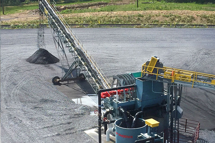 Bucket Wheels Discharge And Stack Dewatered Solids