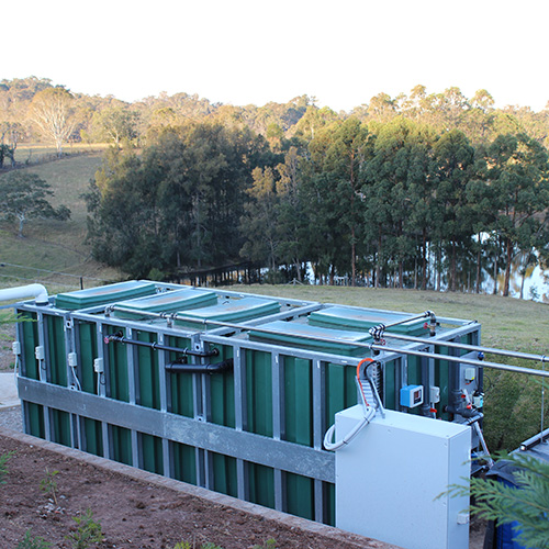 Blackwater Recycling Outdoor Install