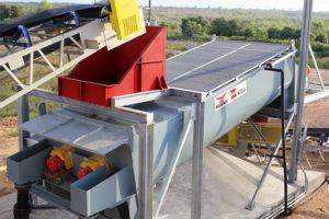 PHOENIX / KISA Logwasher on site aggregate plant