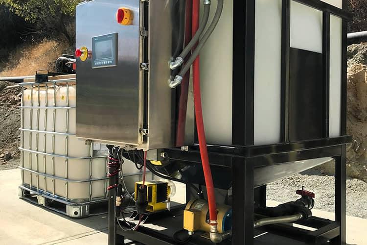 Wet Polymer Dewatering Thickening System