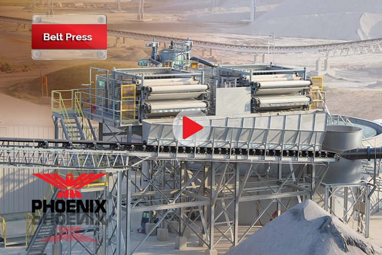 PHOENIX Belt Press Dewatering Video